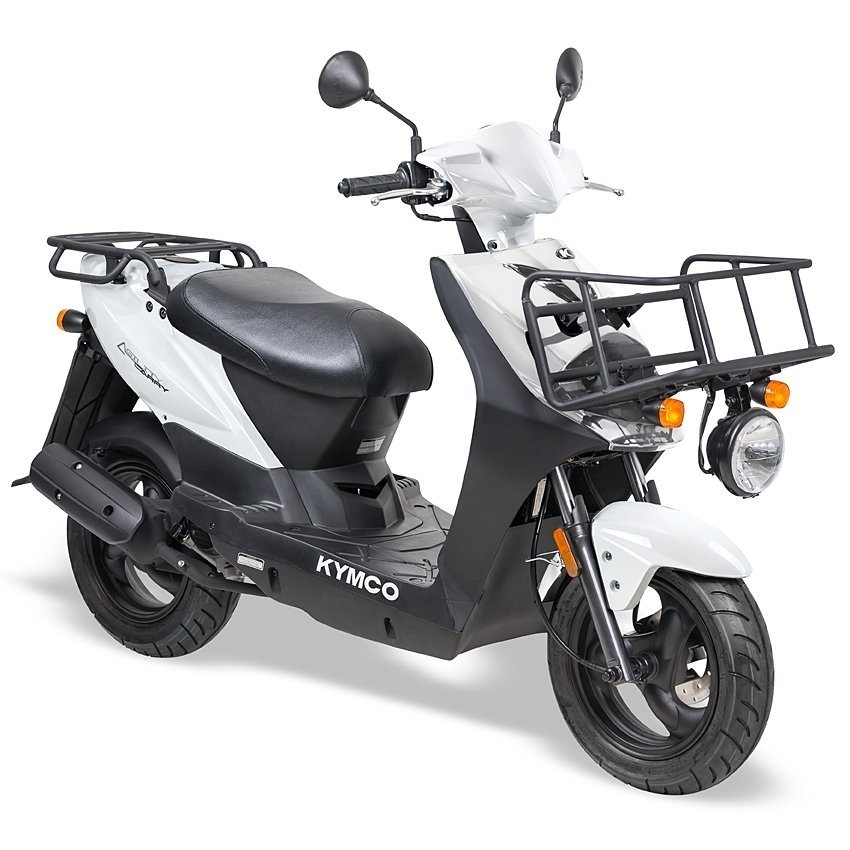 Kymco - Kymco-Agility-oak-special-korting-discount-12-brom-snor-brommer-snorscooter-scooter-scooters-tensen-tweewielers-westland-oak-zwart-black-delivery-carry-wit-white-black-zwart-wit